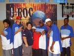 J-ROC, W.O.E Records crew & Main Branch Director Tammy Ito after his show.