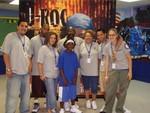 J-ROC with the staff of B.C. McCabe Boys & Girls Club.