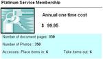 Platinum Service Membership -- $99.95