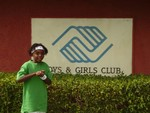 J-ROC in front of Boys & Girls Clubs of America logo.