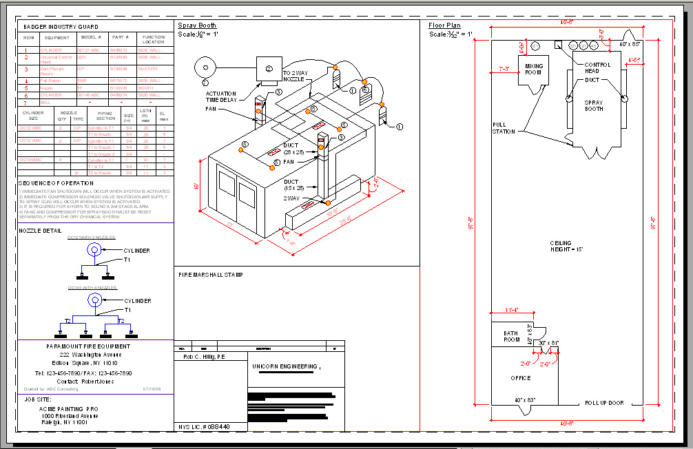 Fire protection drawings