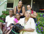 Englewood Resident Natalie Wells with Sentry & Family