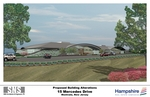 15 Mercedes Drive, Montvale, NJ (artist's rendering of planned renovations).  Building recently acquired by The Hampshire Companies of Morristown, NJ.
