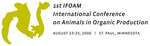 Logo of the 1st IFOAM International Conference on Animals in Organic Production