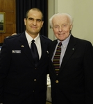 Brig. Gen. Ilan Baram and Rep. Tom Lantos meet in the US Capitol on July 19, 2006.