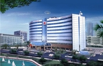 The goal of the Hanoi International American Hospital (architectural drawing shown) will be to deliver world-class health care services with best cost management practices.