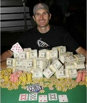 Rafe Furst and his winnings at the 2006 World Series of Poker