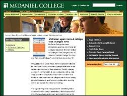 McDaniel College Named to Colleges that Change Lives