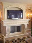 Exquisite Cast Stone Fireplace