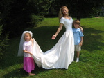 MeMe Roth and Children- Wedding Gown Challenge 2006