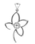 Diamonds in Sterling Silver Pendant
