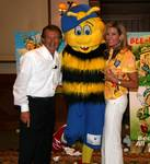 Thomas and Carroll with Bigsbee the Bumblebee