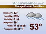 AccuWeather Current Weather Content