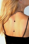 Short Onxy Double Necklace Tail by Angela Arno