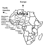 Map of Africa-2nd Largest Continent