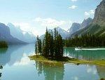 Spirit Island - Maligne Lake Jasper National Park