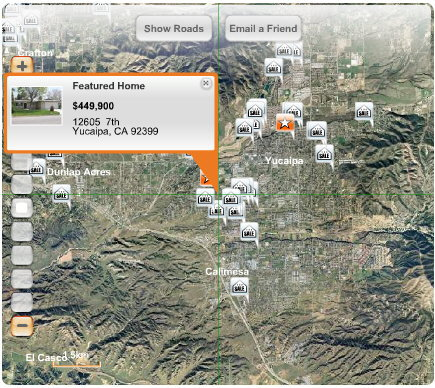 Real Estate Agent Provides New Aerial Map Internet Searches