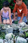 Kids love to play in the stream
