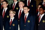 Concert Choir members from Florida's Singing Sons perform at the 2005 Holiday Concert