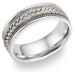 White Gold Braided Wedding Ring