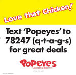 Text 'popeyes' to 78247 [QTAGS]