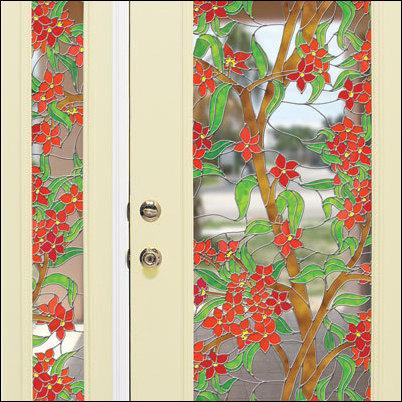 decorative window film replaces stained glass - Decorative Windows