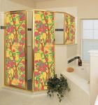 Give shower doors the look of stained glass with Wallpaper For Windows.