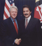 Kostas Alexakis  with President Bill Clinton