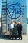 L to R: SVdP National Disaster Relief Coordinator Chris Desloge, HOPE designer Ria Duplantier of R&R Creative, and proud father Bob Duplantier, National Director of Membership & Technology Services