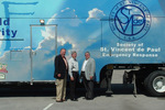 L to R: St. Louis Council President Ron Guz, Craftstmen Industries President Joe Helmsing, and SVdP National Executive Director Roger Playwin