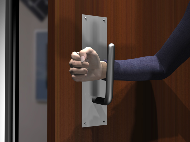 Avoid Germs On Restroom Door Pull Handles Open A Public