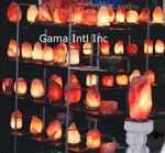 A variety of salt crystal lamps