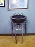 Elegant pedestal sink.