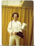 """""""Doctor"""" Mike Bowers after winning a single's world championship."""