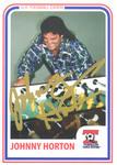 World Champion Johnny Horton trading card.