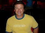 Alec Baldwin in a Liv'n Out Loud! Ringer Tee