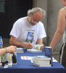 Jasper signing books at Covent Garden