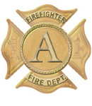 Create a special title for fire fighters with the Courage alphabet.