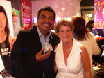 Comedian George Lopez holds MyPacifier Personalized Pacifier