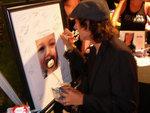 Matthew Underwood signs MyPacifier.com autograph auction poster