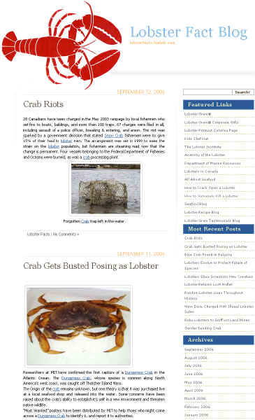 Three Lobster-Oriented Blogs Now Available