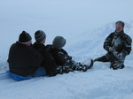 InsureMe team sledding