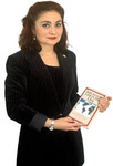 Dr. Nara Venditti with the book