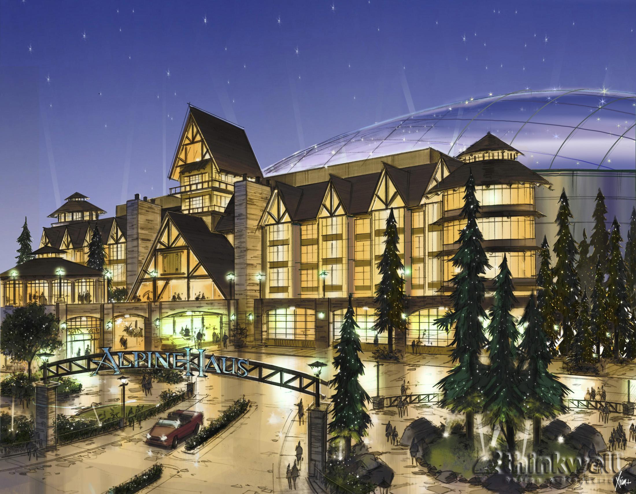 Las vegas gets family resort ski and splash at 1 for The alpine lodge