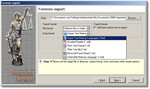 Forensic Export data format selection window