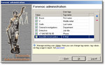 Forensic user management window