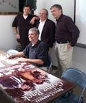Bruce Campbell and company before the Going Back Release DVD party