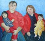 Elisa and Skylar with Mom and Dad
