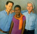 Len, Fernando and Their Daughter Isa