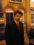 Anil Kapoor at the station provided by Train Chartering